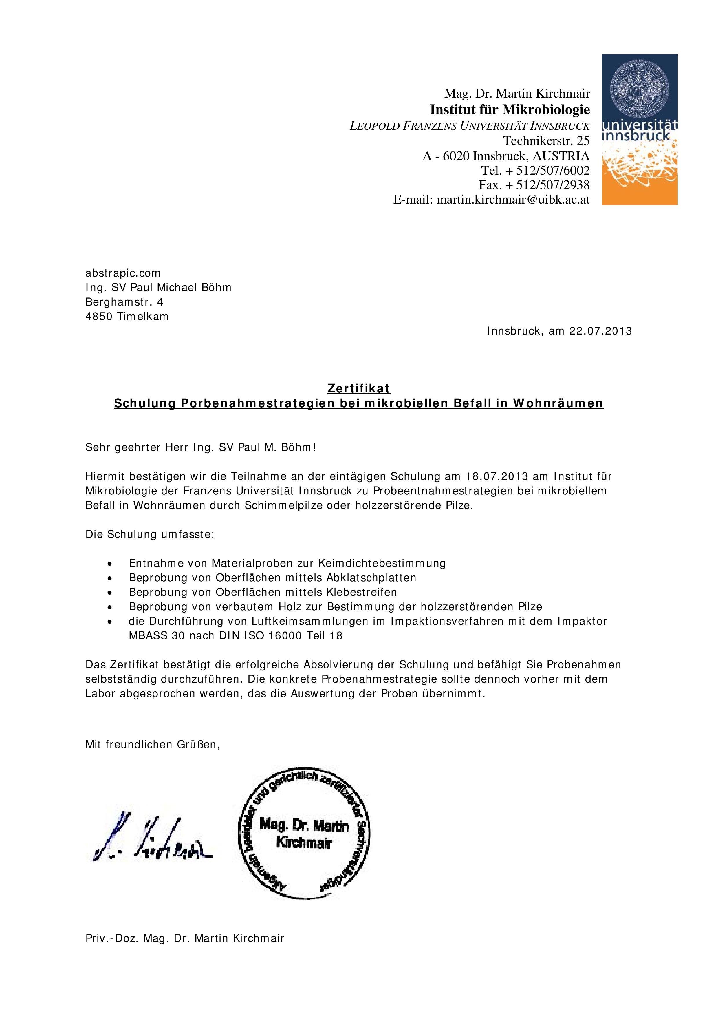 Zertifizierungen | abstrapic.com